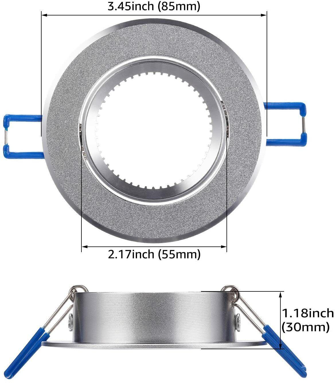 Bulb Holder Light Fitting Light Bulb Mounting Bracket for MR16 Spotlight with GU10 GU10 MR16 Spotlights Trim Rings Light Holders Ceiling Spotlight MR16 GU10 Light Mounting Bracket for Recessed Light