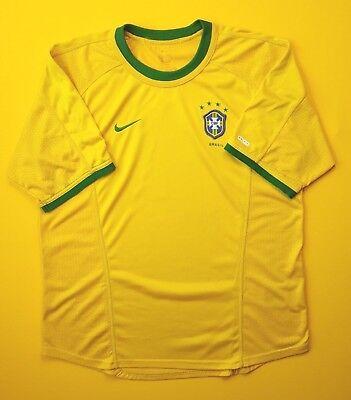 28cb153cbad Brazil Brasil soccer jersey SMALL 2000 2002 home shirt football Nike ig93