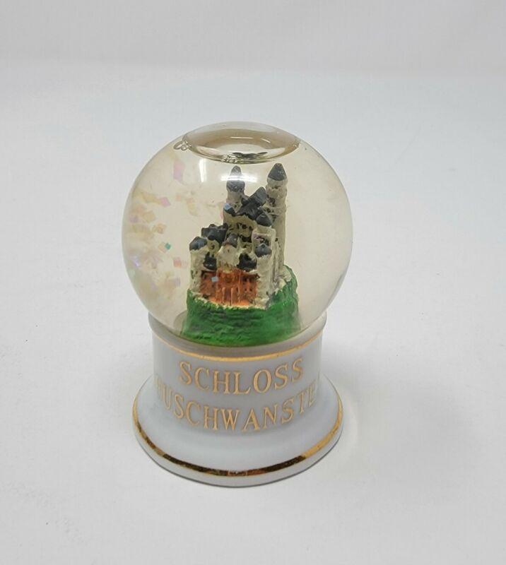 "Schloss Neuschwanstein Castle Snowglobe Snow Globe Germany Souvenir Small 2.5"""