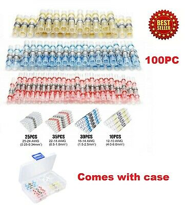 100pcs 31 Heat Shrink Wire Connectors Sleeving Wire Cable Solder Seal