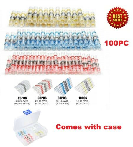 100pcs 3:1 Heat Shrink Wire Connectors Sleeving Wire Cable Solder Seal
