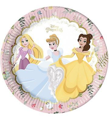 DISNEY PRINCESS PACK OF 8 PARTY PLATES 23CM CINDERELLA RAPUNZEL - Rapunzel Plates