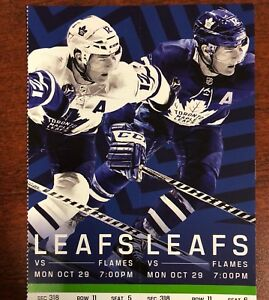 4 Seats Together- Leafs vs Flames Oct29 Greens/Hard