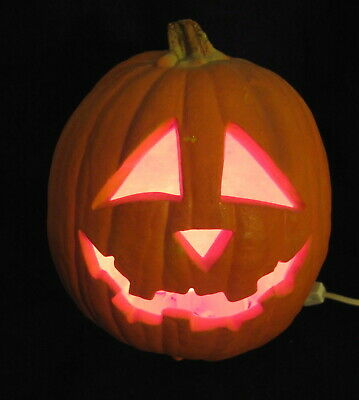 VTG Trendmasters Pumpkin Blow Mold Red Light Up Halloween Jack-O-Lantern 1993