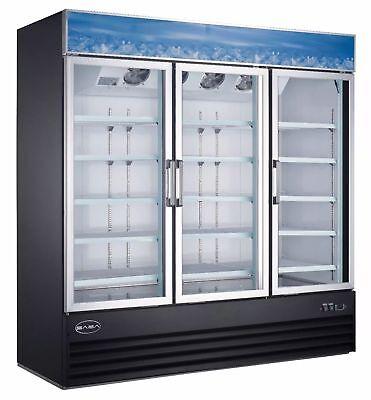 Jse - Saba Air 72r Three 3 Glass Door Merchandiser Refrigerator Cooler Swing