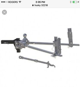 Husky weight distribution hitch with sway control