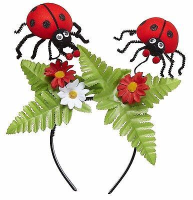 Marienkäfer Haarreif Blumenfee Fee Elfe Blumen Käfer Karneval Kostüm Accessoire