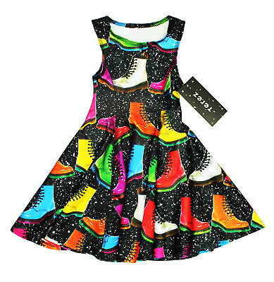 NEW KIDS GIRLS TEREZ MADE IN NYC STRETCH WIDE FLARE BOOTS DRESS S