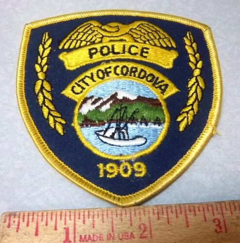 Alaska Embroidered Patch, City of Cordova Alaska Police Souvenir shoulder Patch