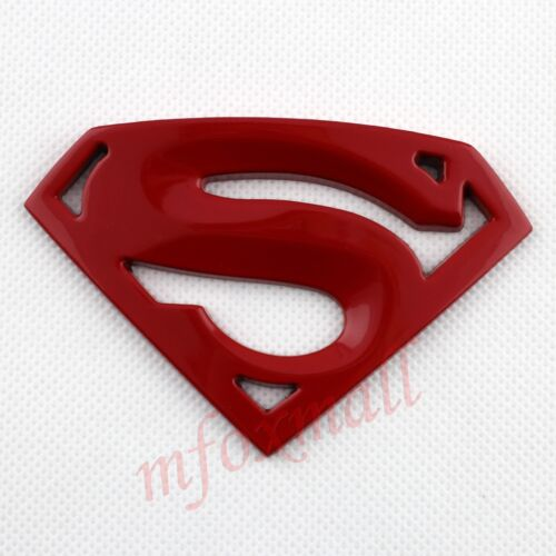 3D Red Superman Badge Emblem Logo Decal Sticker Vheicle Car Accessories Decorate
