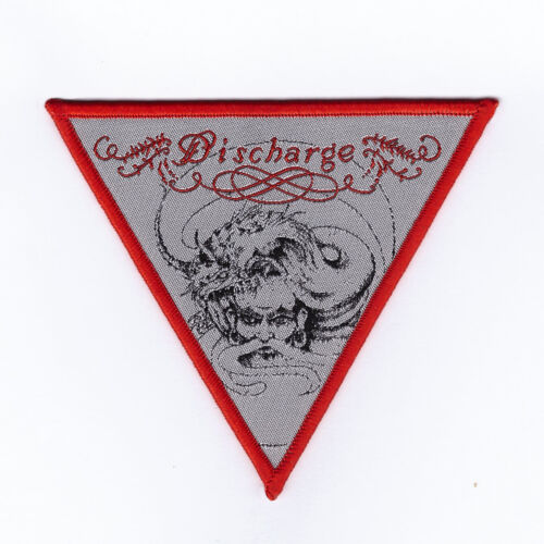 """Discharge """"Grave New World"""" Red Patch english dogs-broken bones-sacrilege-gism"""