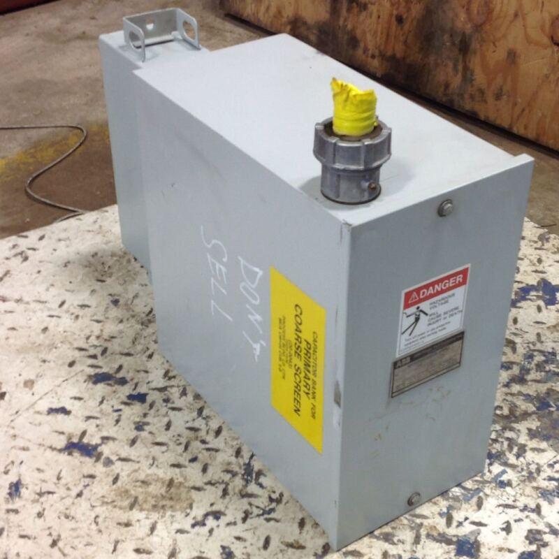 ABB 3PH 2400V 50KVAR WEATHERPROOF CAPACITOR ASSEMBLY 6001C14A03 103581