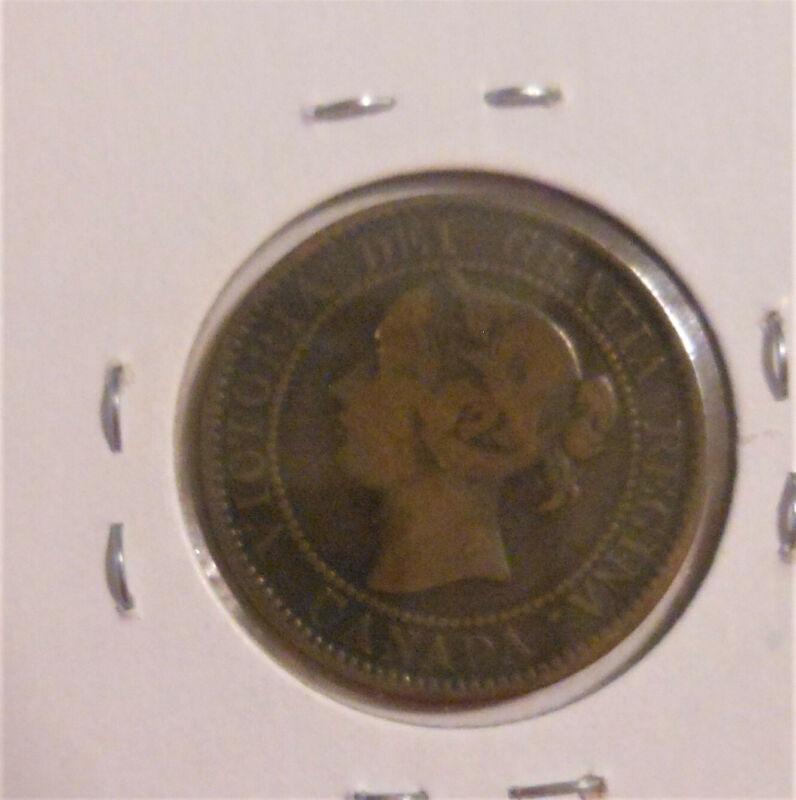 "Canada Large Cent, Victoria era (1858 - 1901), 1859, 1859 over 8, ""Narrow 9"""