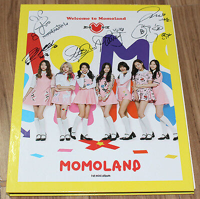 MOMOLAND 1ST MINI ALBUM Welcome to Momoland REAL SIGNED AUTOGRAPHED PROMO CD #2