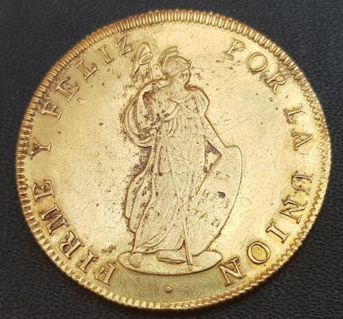 Peru 8 Shields Oz 1836 Cuzco B. Gold Doblón @ Excellent @