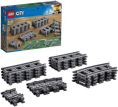 LEGO City Rails Children Toy Set Flexible Train Tracks Kids Building Play