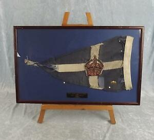 Vintage Framed Royal Thames Yacht Club Burgee From The Yacht 'If and When II'