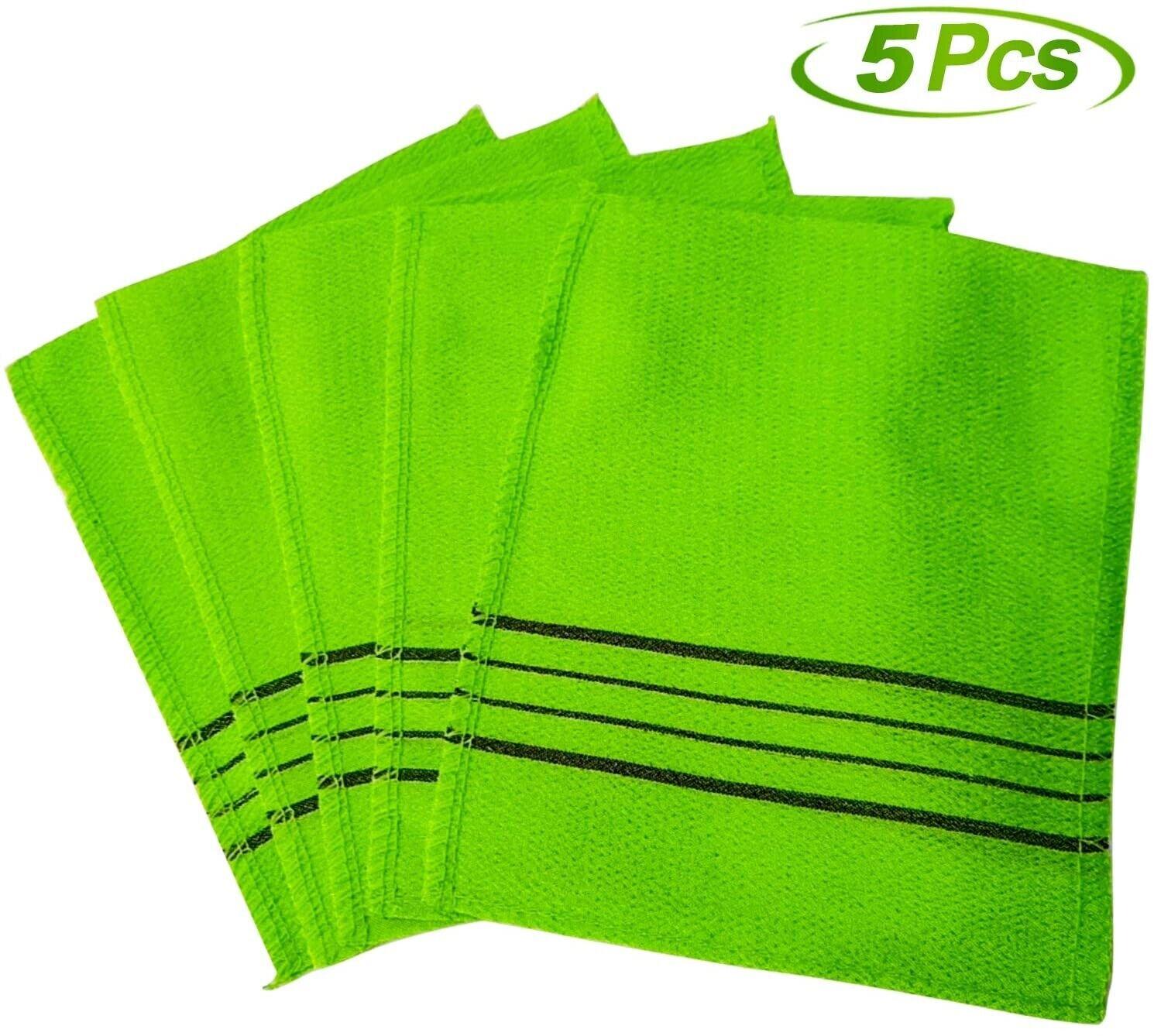 5pcs Korean Italy Towel Exfoliating Long Viscose Bath Back W