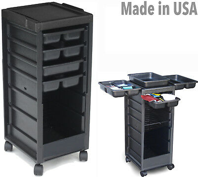 HAIR SALON SPA ROLL-ABOUT UTILITY CART TROLLEY *NON LOCKABLE* G2 MADE IN USA  ()