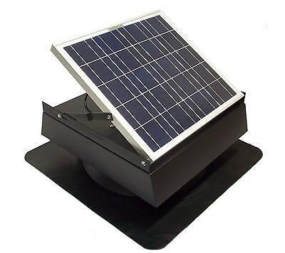 Rand 30 W Solar Battery Powered Attic Fan- Roof Top-Runs at Twilight!!- 30 Watt