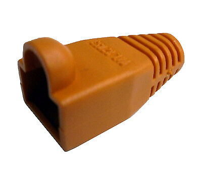 300 pieces - R.J. Enterprises - RJ45 Strain Relief Boots Orange SR-0-OR