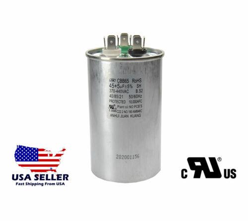 CBB65 45+5 µF Dual Run HVAC Capacitor 370-440VAC 50/60Hz 5% MPP UL Certified