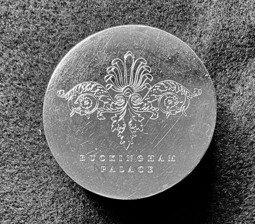 "U. K. - Buckingham Palace Paperweight - Chrome-plated - 2"" (50 mm) - Heavy"