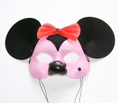 FANCY DRESS MASQUERADE CARNIVAL  PINK COLORED PRETTY MOUSE MASK FOR GIRLS NEW - Masquerade Dresses For Girls