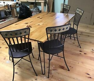 Solid Hickory Dining Table