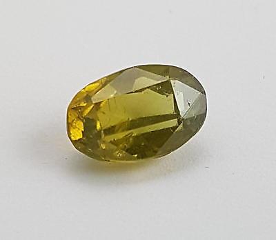 Echter gelber Zirkon in Spezifikationsbox ( 4,86 Carat ) 11,2 x 7,5 x 5,8 mm