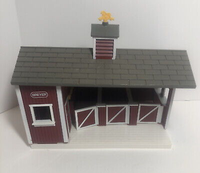 """Breyer Stablemates Red Horse Barn Stable Stalls 11.5 X 9"""""""