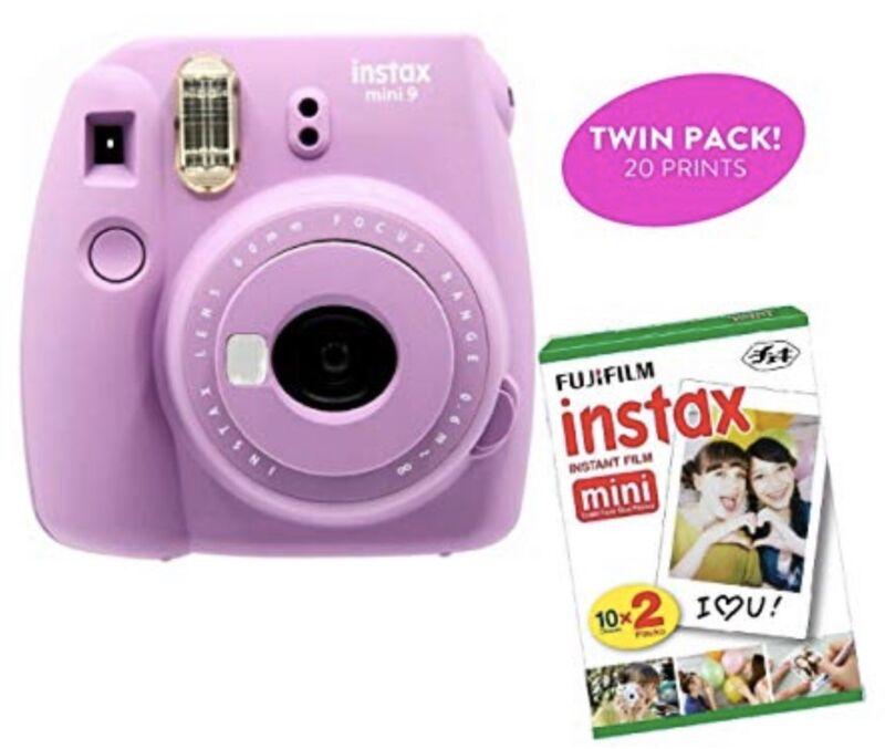 Fujifilm Instax Mini 9 Instant Camera and Instant Film Bundle - Smokey Purple