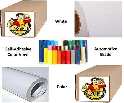24 X 50yd 6yr Outdoor Sign Vinyl Film Craft Hobby Roll Sheet White