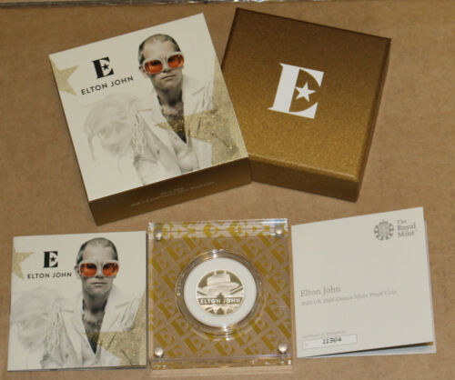 Elton John - 2020 UK Half-Ounce Silver Proof Coin - Great Britain Music Legends