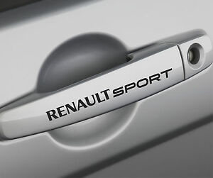 renault sport premium door handle decals stickers megane laguna clio scenic f1 i ebay. Black Bedroom Furniture Sets. Home Design Ideas