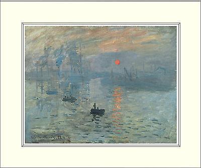 Monet Impression, Sunrise (1872) 10 x 8 Inch Mounted Art Print