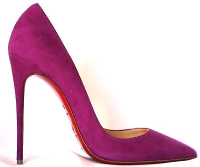 NEW Auth CHRISTIAN LOUBOUTIN So Kate Purple Suede Pigalle Pump 120 Heel 39.5 9.5