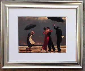 The Singing Butler by Jack Vettriano Framed & Mounted Art Print Silver Frame