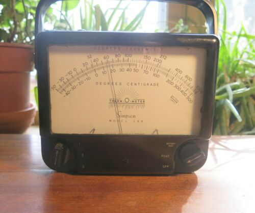 vintage Simpson Therm O Meter model 388 - Industrial Temperature reading tool