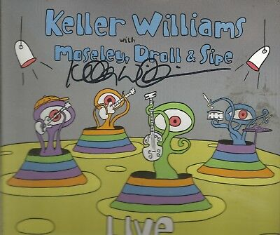 Live * by Keller Williams, Moseley, Droll & Sipe (CD, 2008) Original Signed