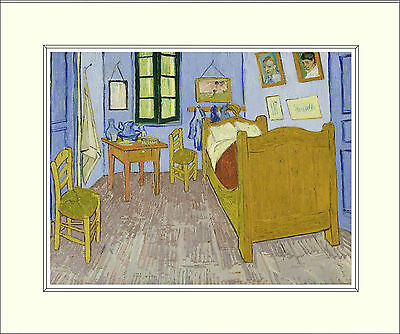 Van Gogh Bedroom in Arles (Third Version, 1889) 10 x 8 Inch Mounted Art Print