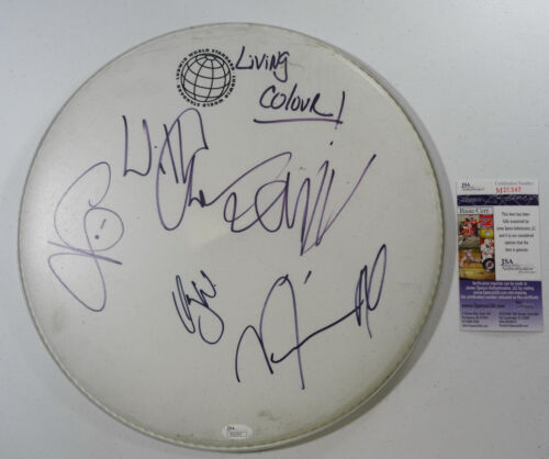 SIGNED LIVING COLOUR AUTOGRAPHED DRUMHEAD CERTIFIED JSA # M20347