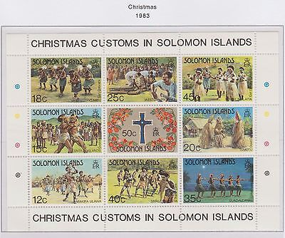 Solomon Islands - Christmas Customs Miniature Sheet Christmas 1983 Mint