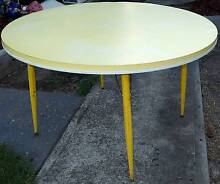 Round 4 Seat Folding Leg Dining Table: Yellow Mid Century Laminex South Windsor Hawkesbury Area Preview