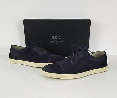N.D.C. Made by Hand in Italy Navy Blue Robin Suede Low Top Cap Toe Sneaker Sz 10