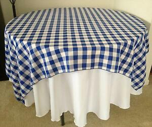 10 Checkered Tablecloths 60 60 Square Overlays Polyester