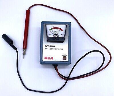 Vintage Rca Wt-540a Ac Leakage Tester Milli-amp Handheld Panel Meter Gauge