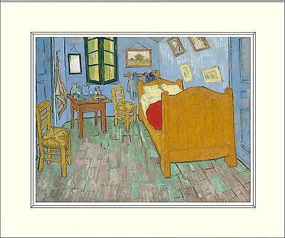 Van Gogh Bedroom in Arles (Second Version, 1889) 10 x 8 Inch Mounted Art Print