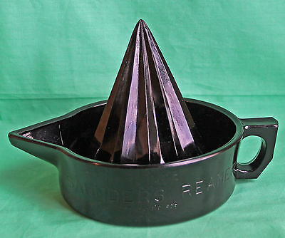 Black Amethyst Glass Witch Hat Saunders Reamer Juicer McKee RARE Vintage Kitchen