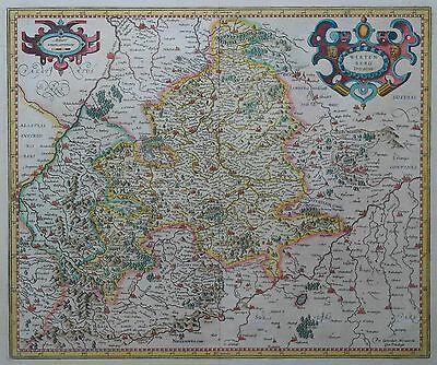 Wirtenberg Ducatus - Herzogtum Württemberg von Gerhard Mercator - 1600